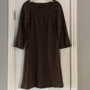 Connected Apparel brown dress